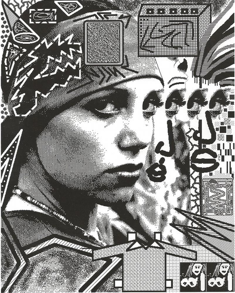 Laurence Gartel, Adelaide, laser print, 28 x 22 cm, 1985