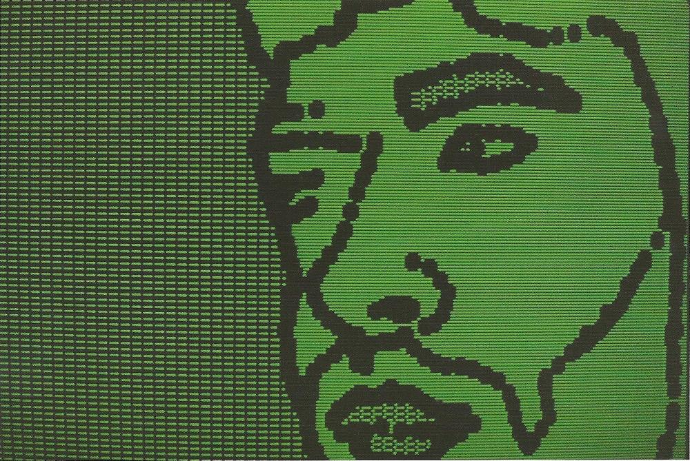 Laurence Gartel, Self Portrait, dye sublimation print, 22 x 28 cm, 1983