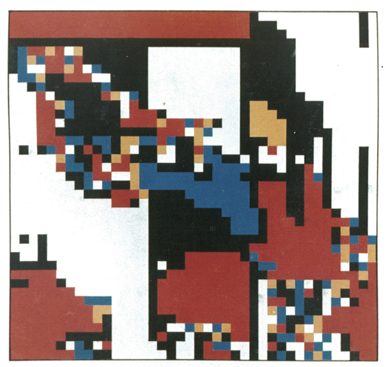 Hiroshi Kawano, painting -computer generated, 20 x 20 cm, 1965