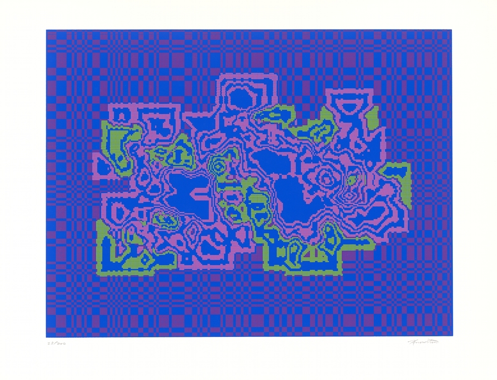 Kenneth Knowlton, silkscreen print, 38 x 50 cm, 1972 (part of the Art Ex Machina portfolio
