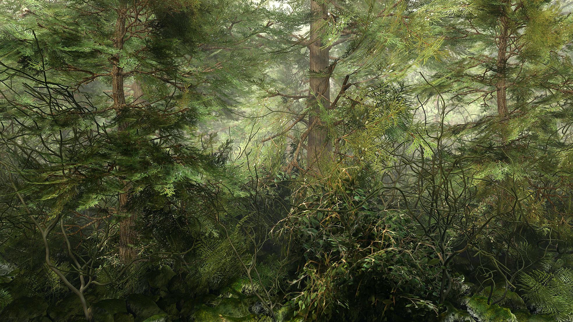 Gerhard Mantz, Ahnende Erfahrung, Pigment ink on canvas, 100 x 180 cm, 2009